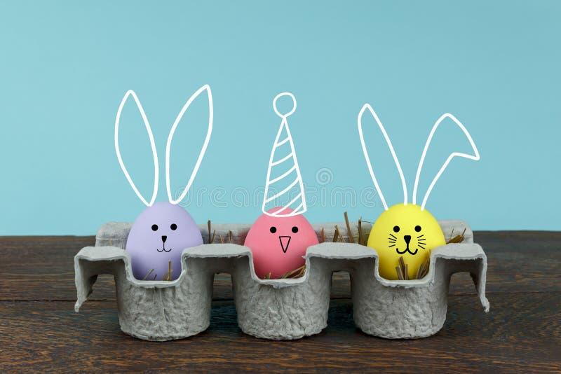 decoratie & teken Gelukkig de vakantie van Pasen concept als achtergrond stock afbeelding