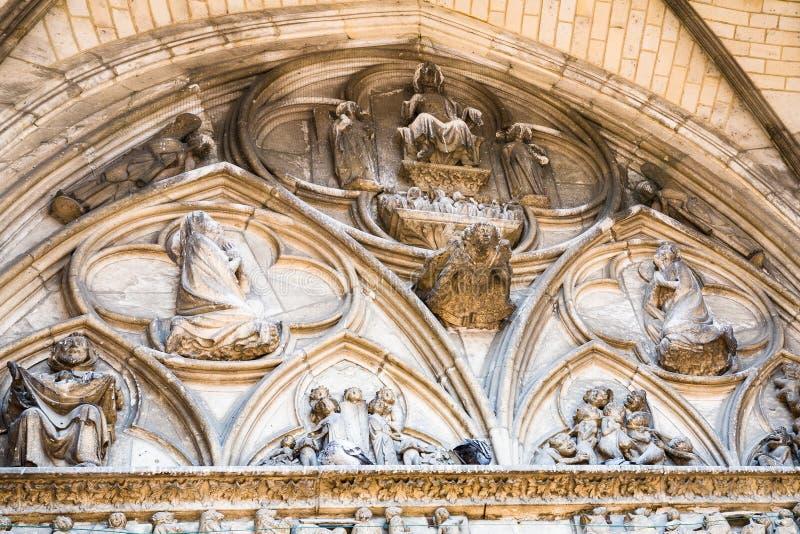 decoratie van Basiliek van Heilige Stedelijk van Troyes royalty-vrije stock afbeeldingen