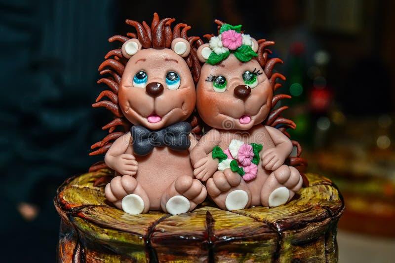 Decoratie van de gelukkige cake van babyegels royalty-vrije stock foto's