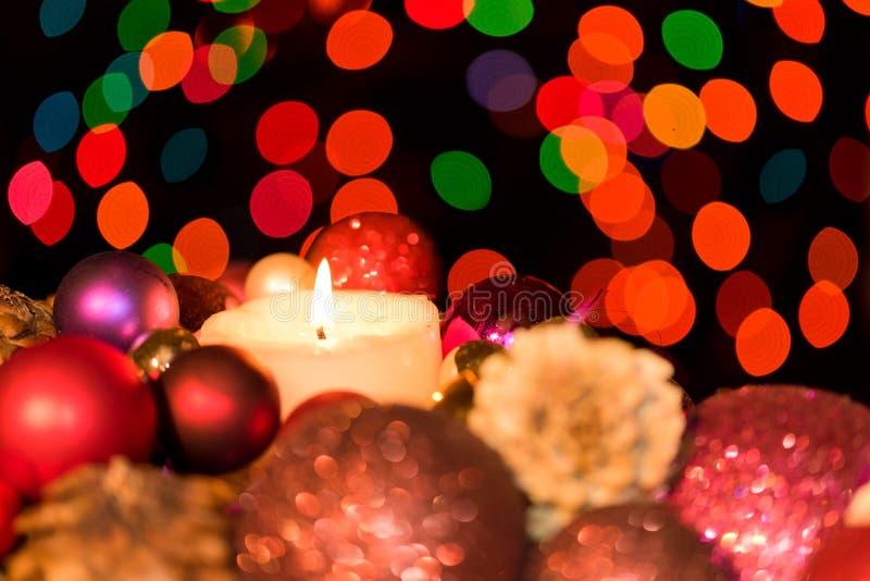 Decoratie van de Kerstmis de bloemenlijst royalty-vrije stock afbeelding