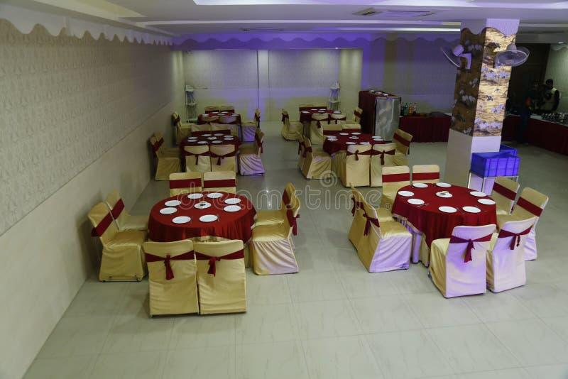 Decoratie van een hotel tijdens het huwelijk in jalandhar, India royalty-vrije stock afbeeldingen