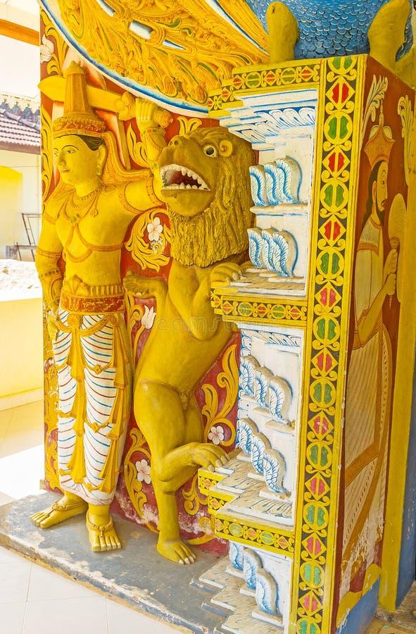 Decoratie van oude Tempel stock afbeeldingen
