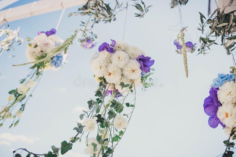 Decoratie voor de huwelijksceremonie stock foto