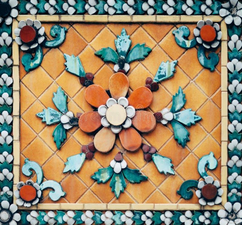 Decoratiedetail van het patroon van de mozaïekmuur royalty-vrije stock foto's