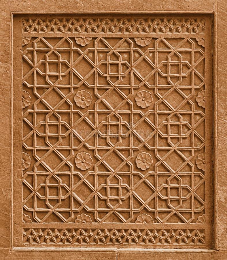 Decoratief architecturaal element met ornament die in st verwijderen stock fotografie