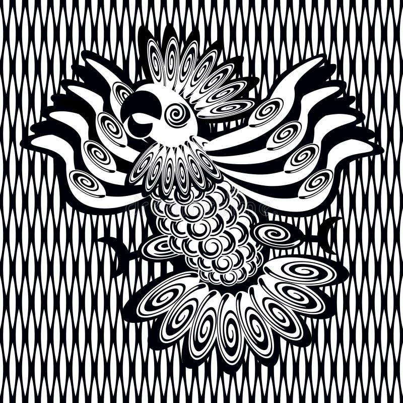 Decoratief beeld van papegaai vector illustratie