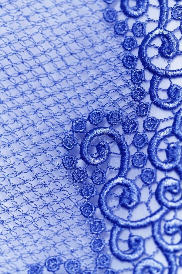 Decoratief blauw kant royalty-vrije stock fotografie