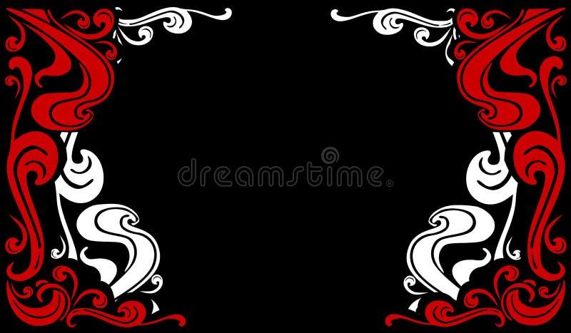 Decoratief bloeit Grenzen 2 vector illustratie