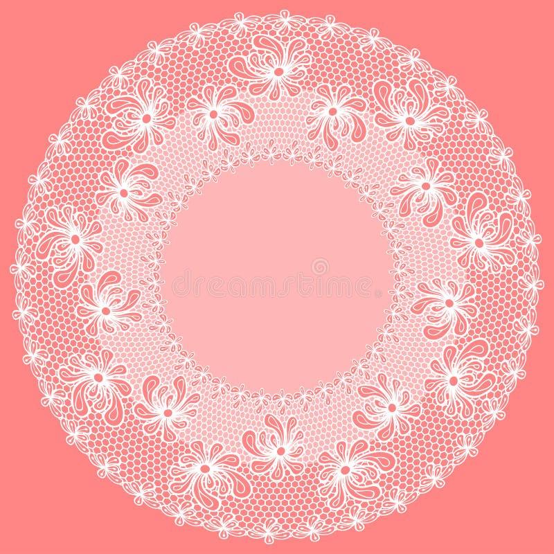 Decoratief bloem kanten kader vector illustratie