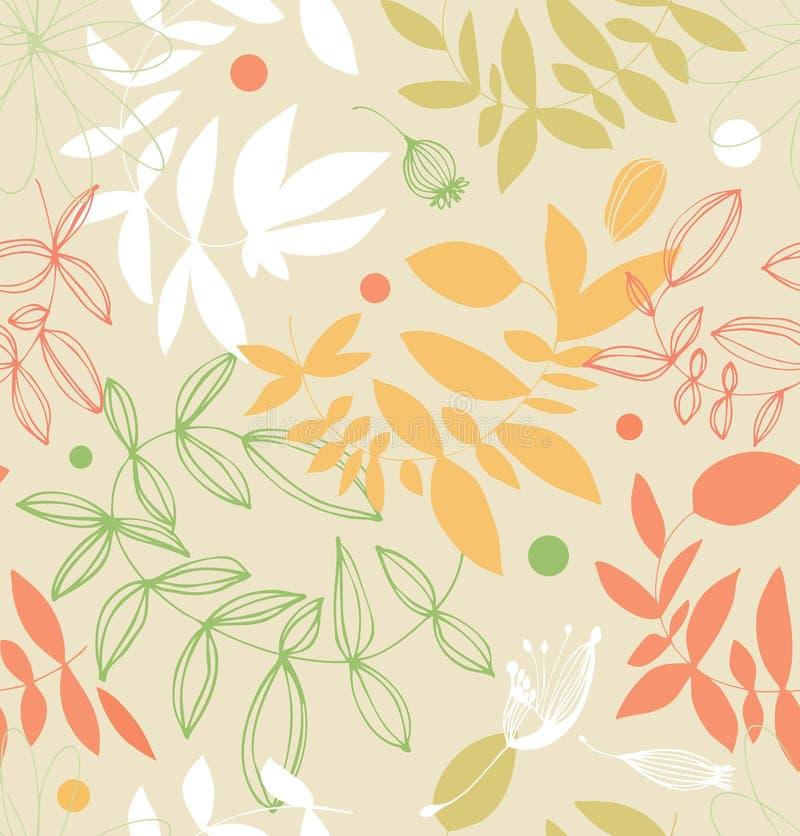 Decoratief bloemen naadloos patroon in bleke kleuren vector illustratie