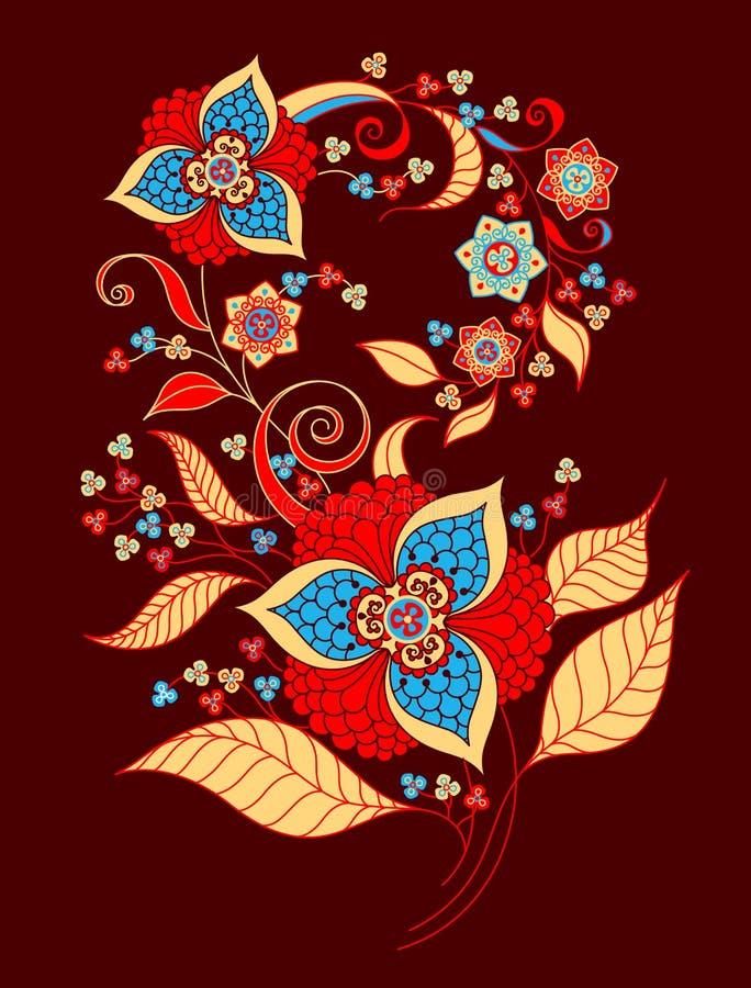 Decoratief boeket van bloemen royalty-vrije stock afbeelding