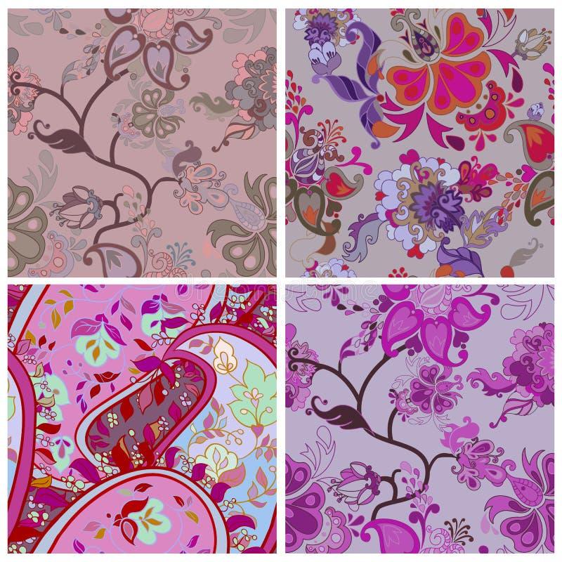 Decoratief creatief bloemenboho naadloos patroon vector illustratie