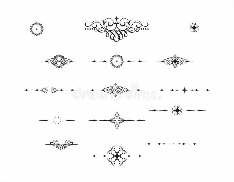 Decoratief de separatorpatroon van de elementenverdeler