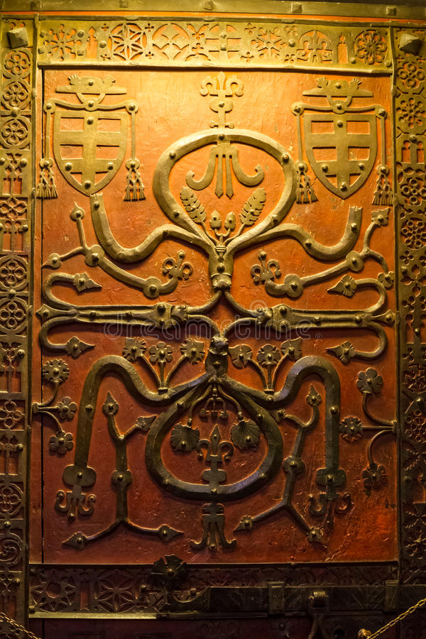 Decoratief deurpaneel royalty-vrije stock afbeelding