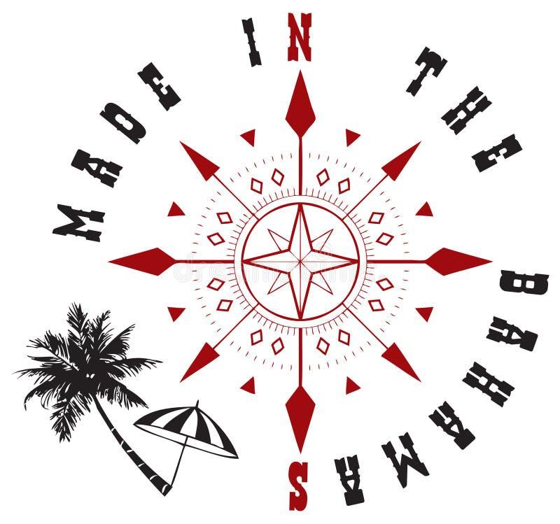 Decoratief die symbool aan tot de Bahamas wordt gemaakt stock illustratie