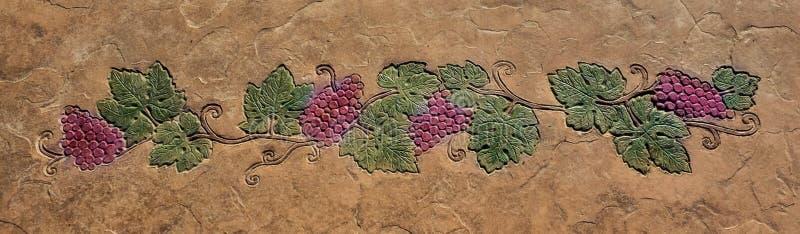 Decoratief druivenmotief royalty-vrije stock afbeeldingen