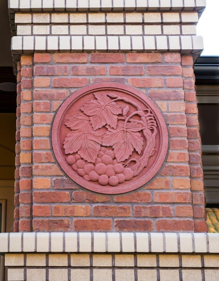 Decoratief druivenmotief stock foto