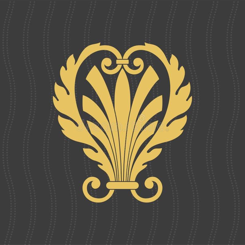 Decoratief element De oude stijl van Griekenland stock illustratie