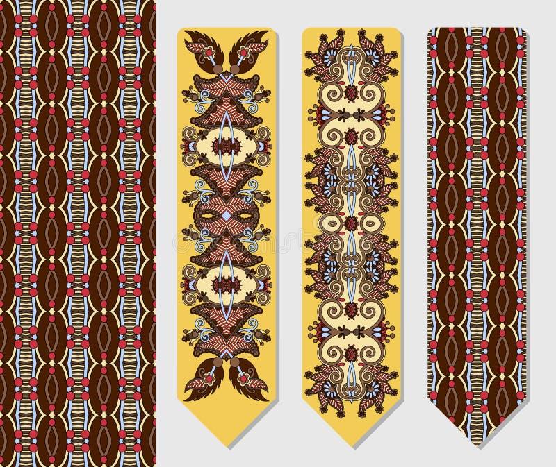 Decoratief etnisch Paisley twee referentie voor stock illustratie