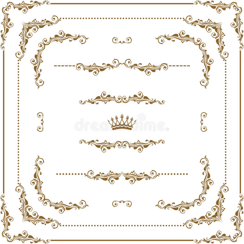 Decoratief frame stock illustratie
