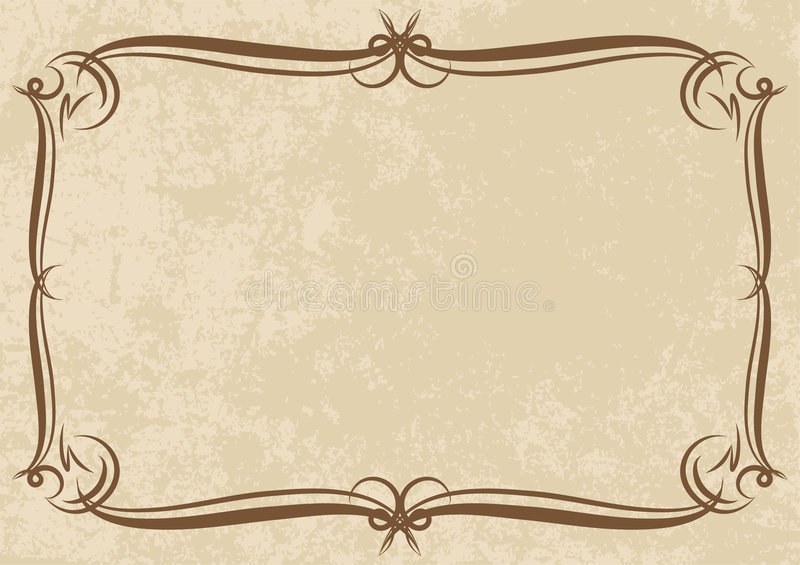 Decoratief frame royalty-vrije illustratie