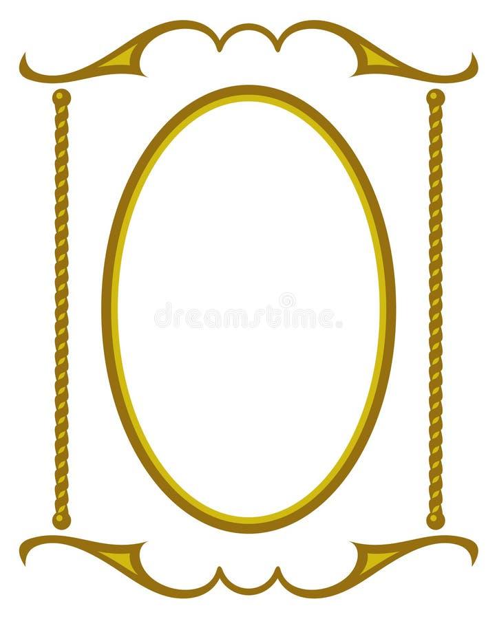 Decoratief frame JPG + EPS royalty-vrije illustratie