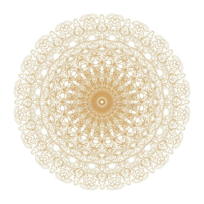 Decoratief goud en frame met uitstekende ronde patronen op wit! vector illustratie