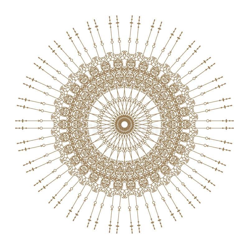 Decoratief goud   kader vector illustratie