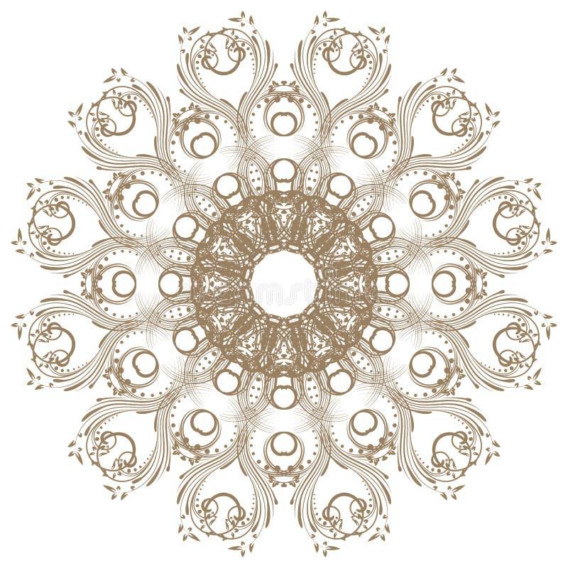 Decoratief gouden kader stock illustratie