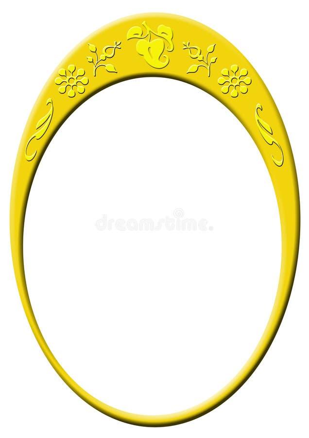 Decoratief gouden ovaal vector illustratie