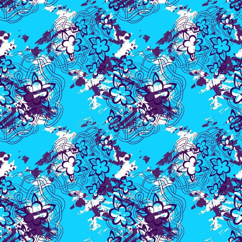 Decoratief grafisch naadloos patroon stock illustratie