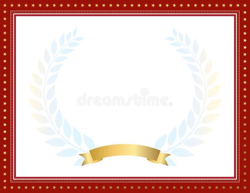 Decoratief grens en kadermalplaatje in vierkante vorm, uitstekend kaderontwerp voor certificaat, diploma, bon en groetkaart stock illustratie