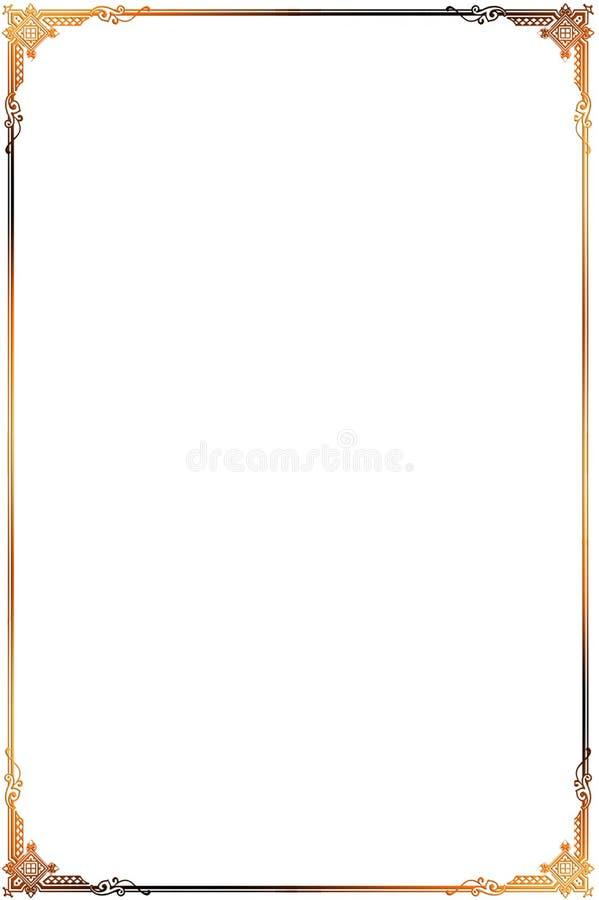 Decoratief grensornament royalty-vrije stock afbeelding