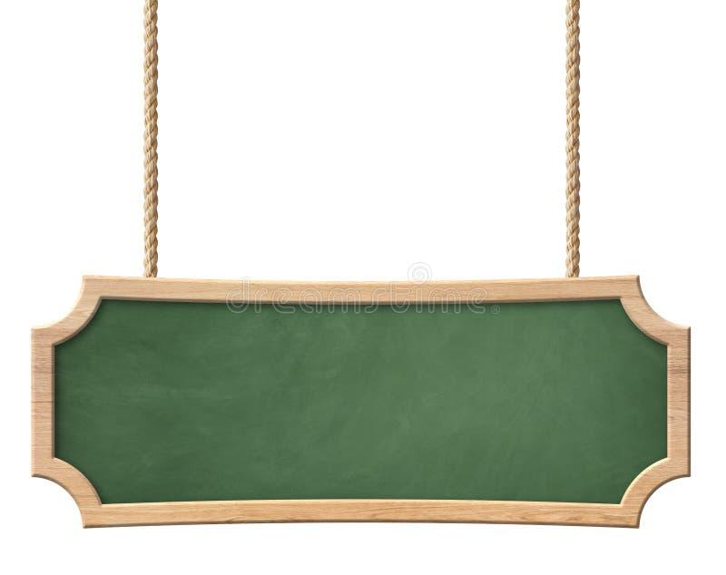 Decoratief groen bord met helder houten kader en langwerpige vorm stock foto