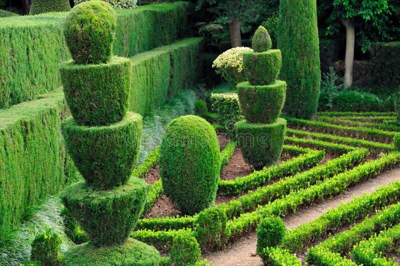 Decoratief groen park royalty-vrije stock foto's