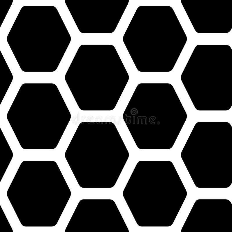 Decoratief hexagonaal net Binnenlandse muurdecoratie vector illustratie