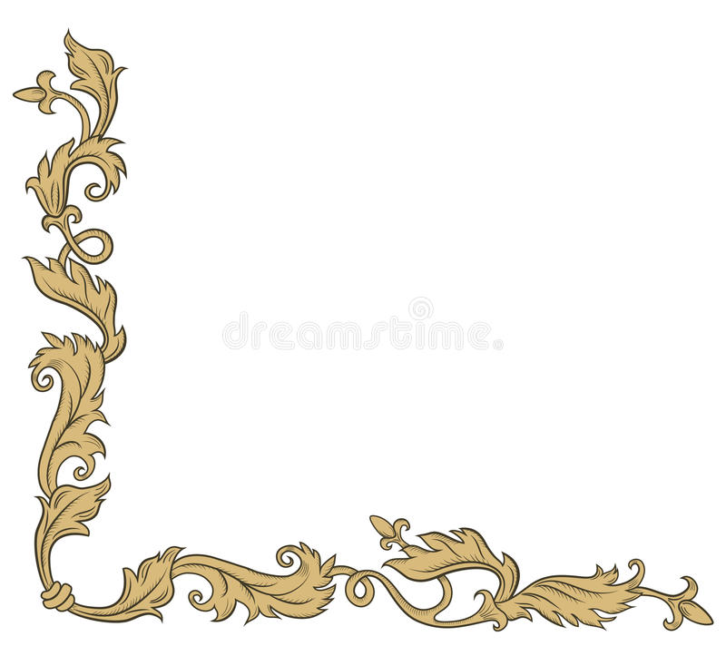 Download Decoratief hoekornament vector illustratie. Illustratie bestaande uit antiquiteit - 54085408