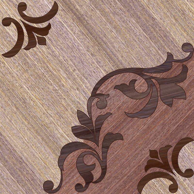 Decoratief houten decor royalty-vrije illustratie