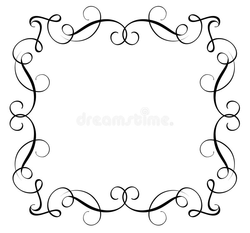 Decoratief Kader en Grenzenart. Kalligrafie die Vectorillustratie EPS10 van letters voorzien stock illustratie