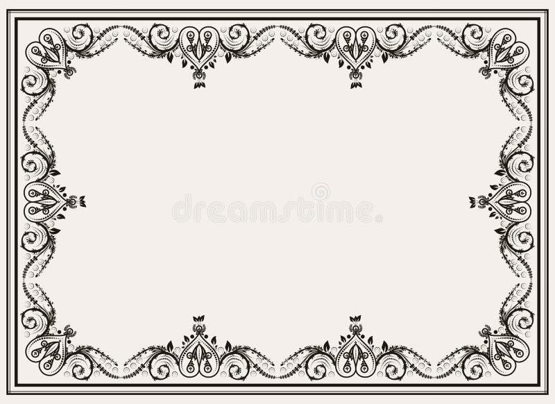 Decoratief kader met ornamenten vector illustratie