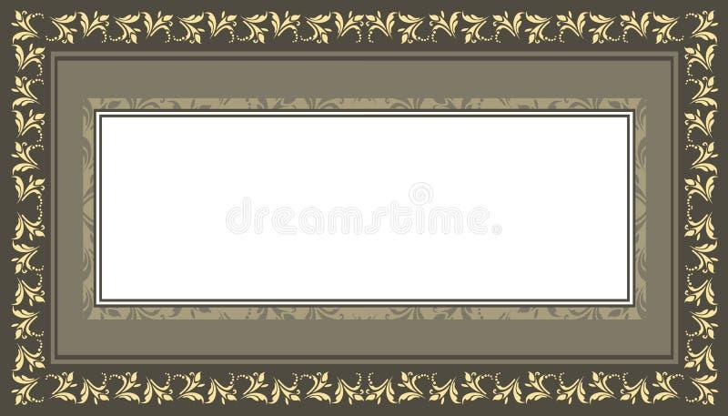 Decoratief kader met uitstekend, elegant, bloemen, klassiek en styl vector illustratie