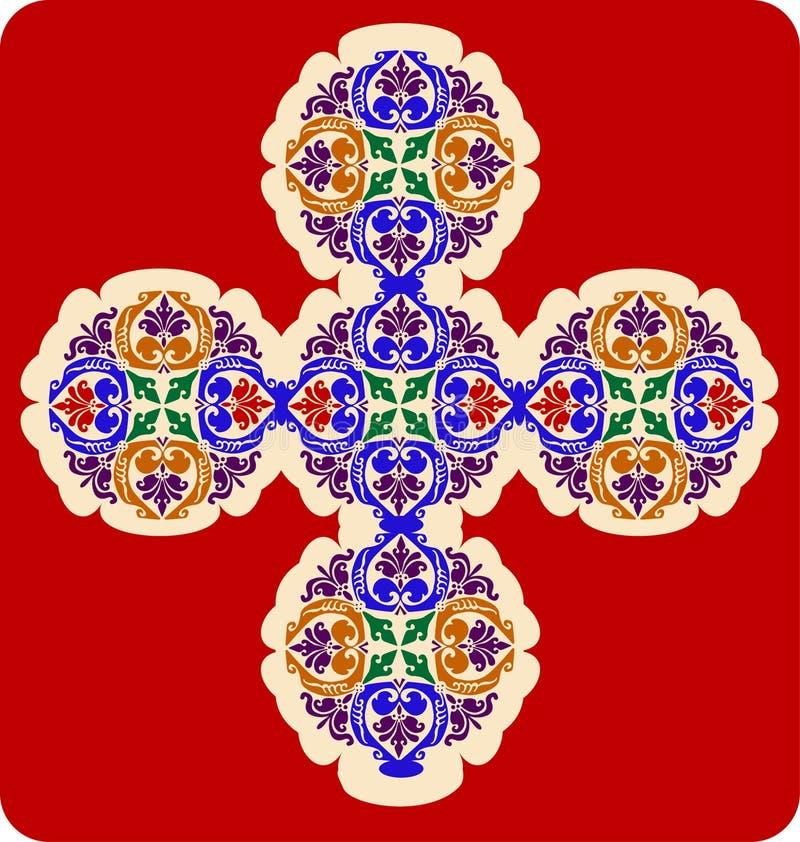 Decoratief Kruis royalty-vrije illustratie