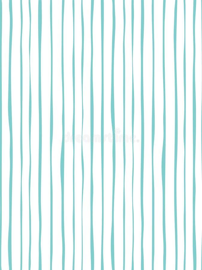 Decoratief lijn naadloos patroon met hand getrokken vormen stock illustratie