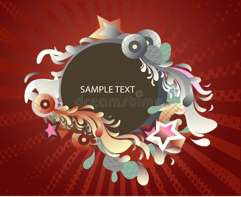 Decoratief medaillon vector illustratie