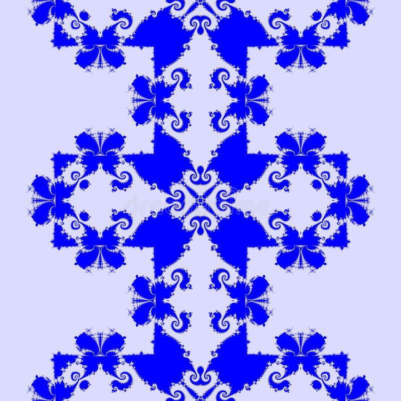 Decoratief mozaïek met vlinders stock illustratie