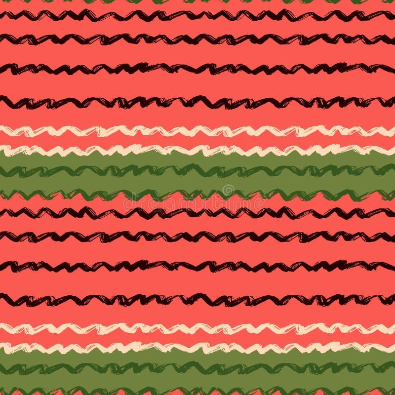 Decoratief naadloos patroon met handdrawn vormen De hand schilderde grungy inktkrabbels In eindeloze textuur voor digitaal vector illustratie