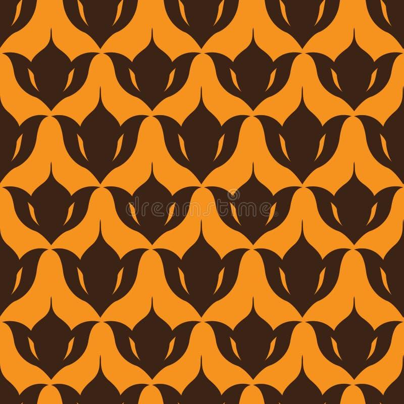 Decoratief naadloos patroon stock illustratie