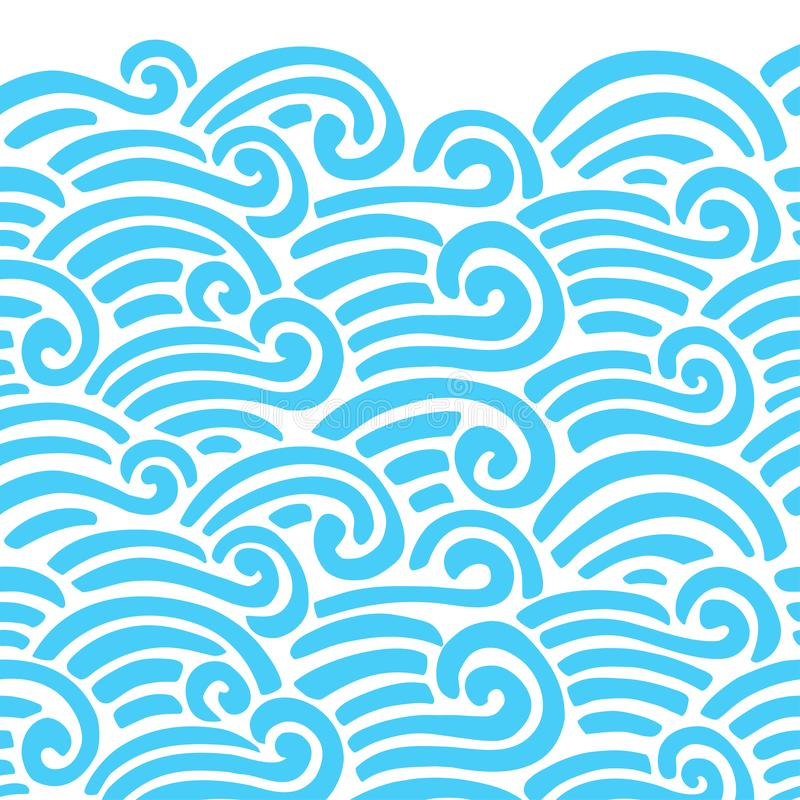 Decoratief naadloos patroon Vectorillustratie met abstracte golven of duinen stock illustratie
