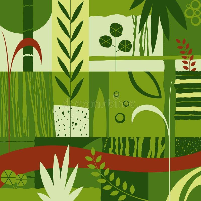 Decoratief ontwerp met installaties vector illustratie