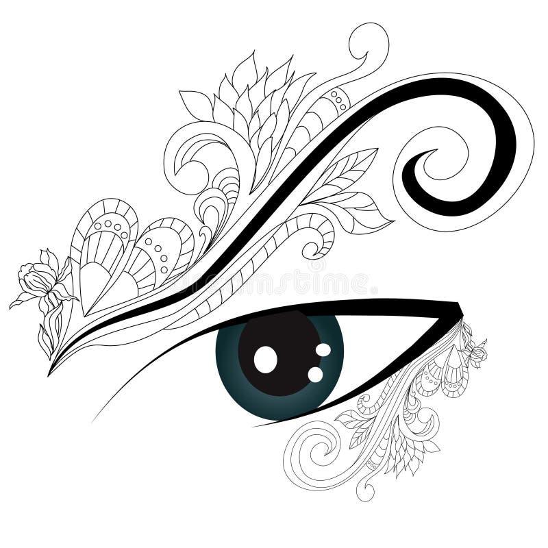 Decoratief oog vector illustratie